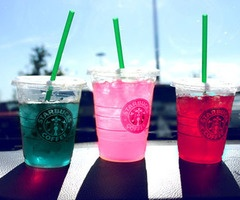 Starbucks | Blue Raspberry Cooler, Strawberry Chiller, Sunny Day Chiller! Oh so yummy! Starbucks Secrets