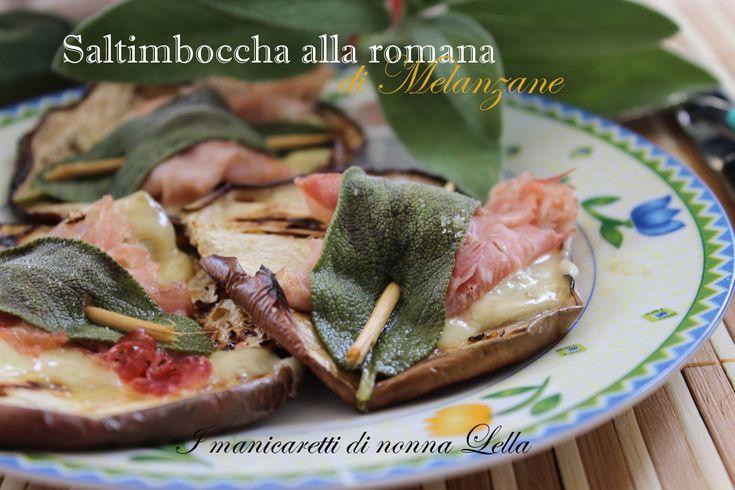 Salntimbocca alla romana di melanzane1 melanzana grande 80 gr di formaggio morbido  fette 50 gr di prosciutto cotto a fette salvia q.b. rigorosamente fresca olio di oliva q.b. stuzzicadenti q.b.