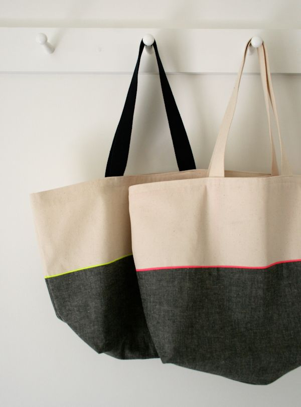 Mollys Sketchbook: Everyday Tote - The Purl Bee - Knitting Crochet Sewing Embroidery Crafts Patterns and Ideas!