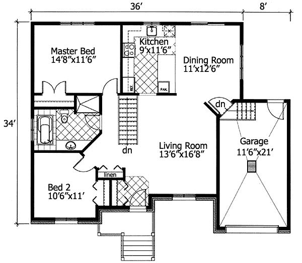 Plan 90204pd barrier free bungalow free floor plans Barrier free house plans