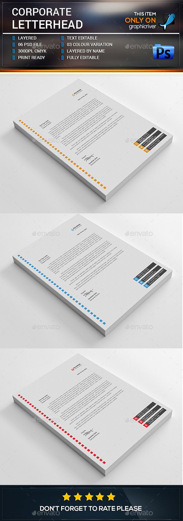 Best Letterheads Images On   Graphics Letterhead And