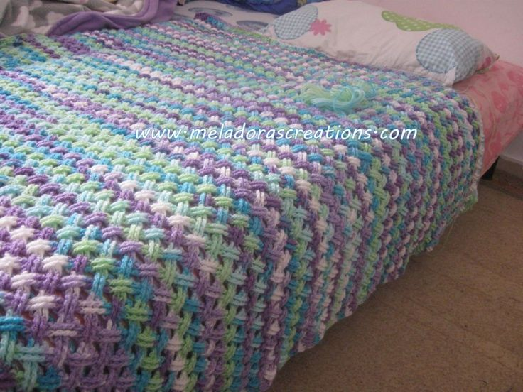 Interweave finished afghan WM 1
