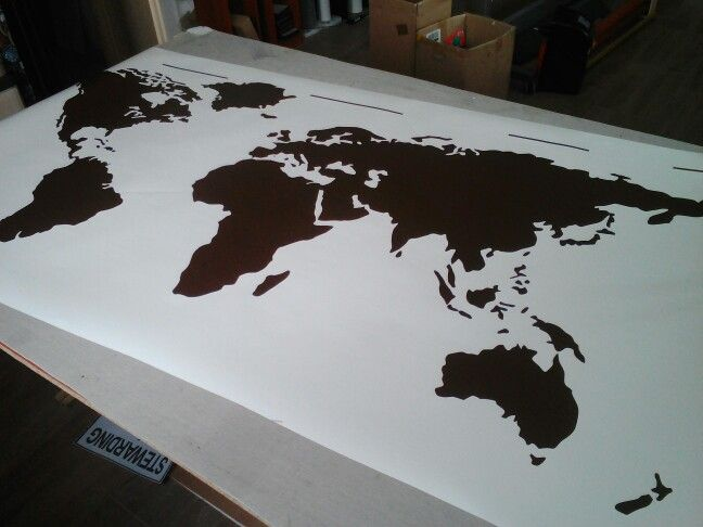 Making a giant world map wall art for Ildiko #wallart
