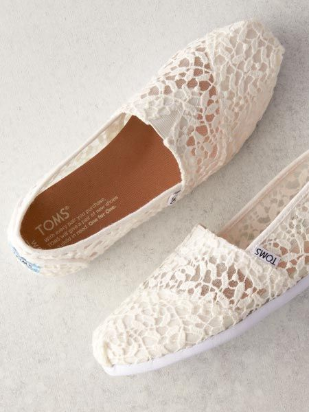 Shop TOMS Wedding Collection for the bride and groom. Flats, brogues, wedges, slip-ons, sandals and more. Pick a bridal shoe that will match your wedding style. One for One®