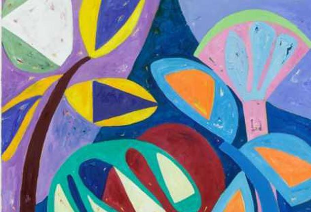 Exuberant: 'Glimmer', one of Gillian Ayres' new works
