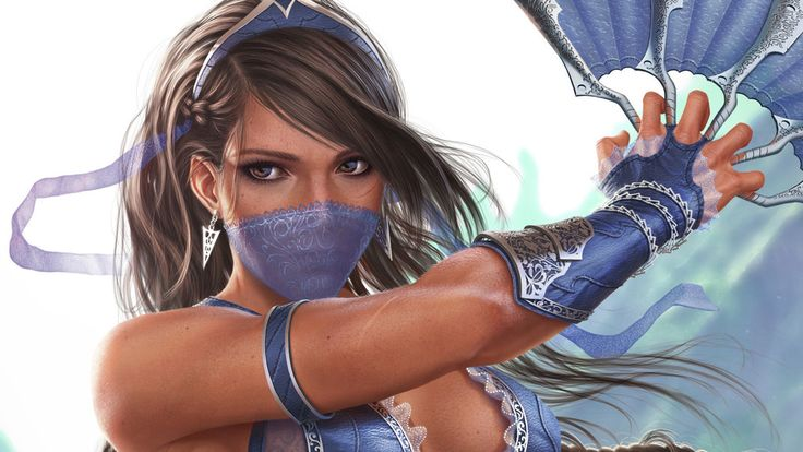 Princess kitana, Kitana, Mortal Kombat video game, art wallpaper