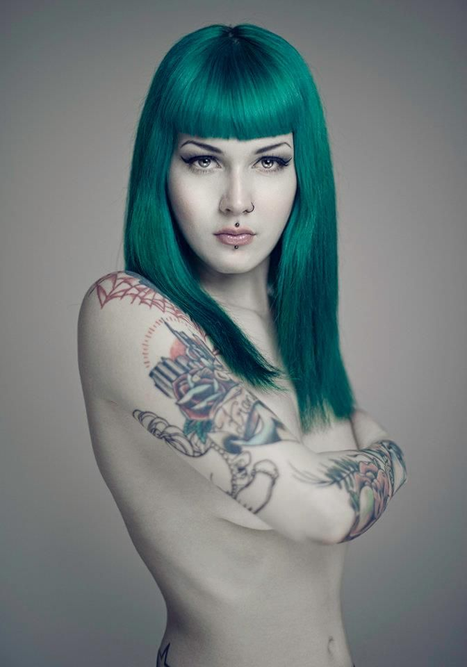 Victoria Van Violence: Hair Colors, Vans Violence, Tattoo Greenhair, Victoria Vans, Teal Hair, Hair Tattoo, Green Hair, Body Arttattoo, Colors Hair