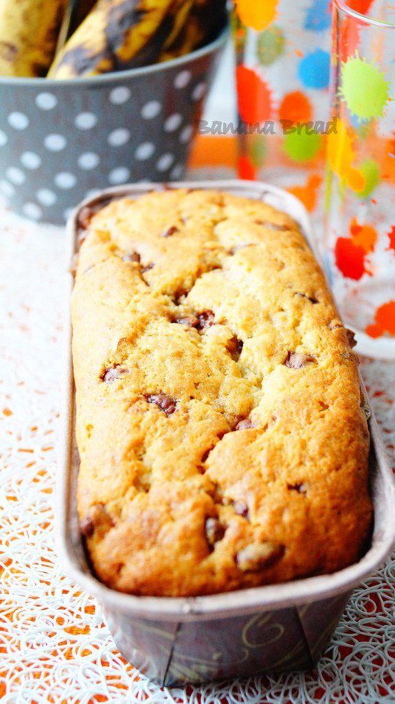 Banana Bread ou Cake aux bananes et pépites de chocolat