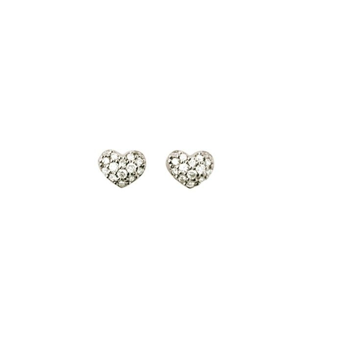Heart earrings in 18K white gold and diamonds TW.VS Stars & Hearts by OLE LYNGGAARD COPENHAGEN www.olelynggaard.com