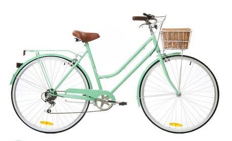 6 Speed Mint Green Vintage Ladies Bike