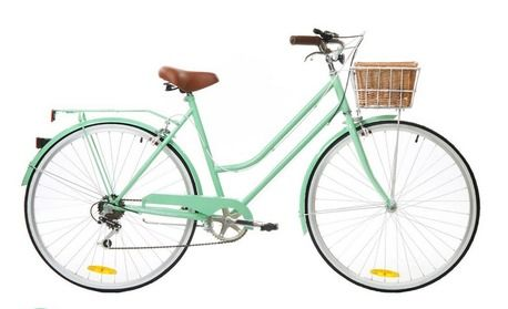 6 Speed Mint Green Vintage Ladies Bike