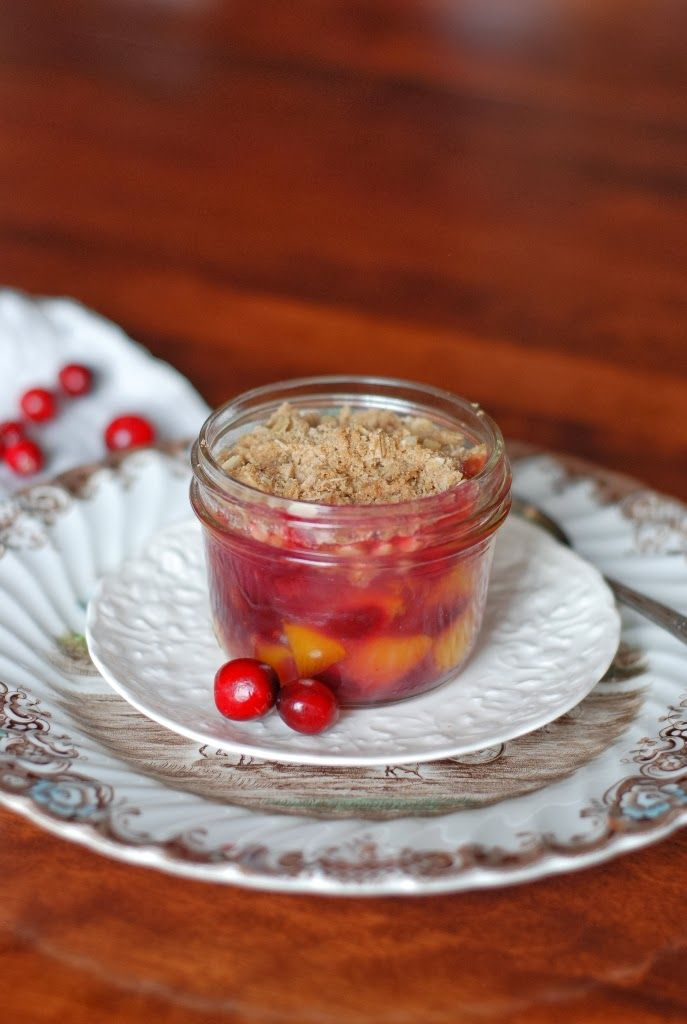 Simply So Good: Peach Cranberry Crisp and $100 Crate & Barrel Gift Card Giveaway