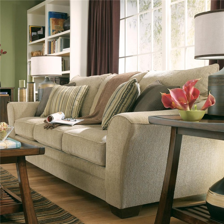 Find a version higher quality and made in USA shop for the Lena - Putty Contemporary Sofa by Ashley Furniture - http://www.furniturefactoryaz.com