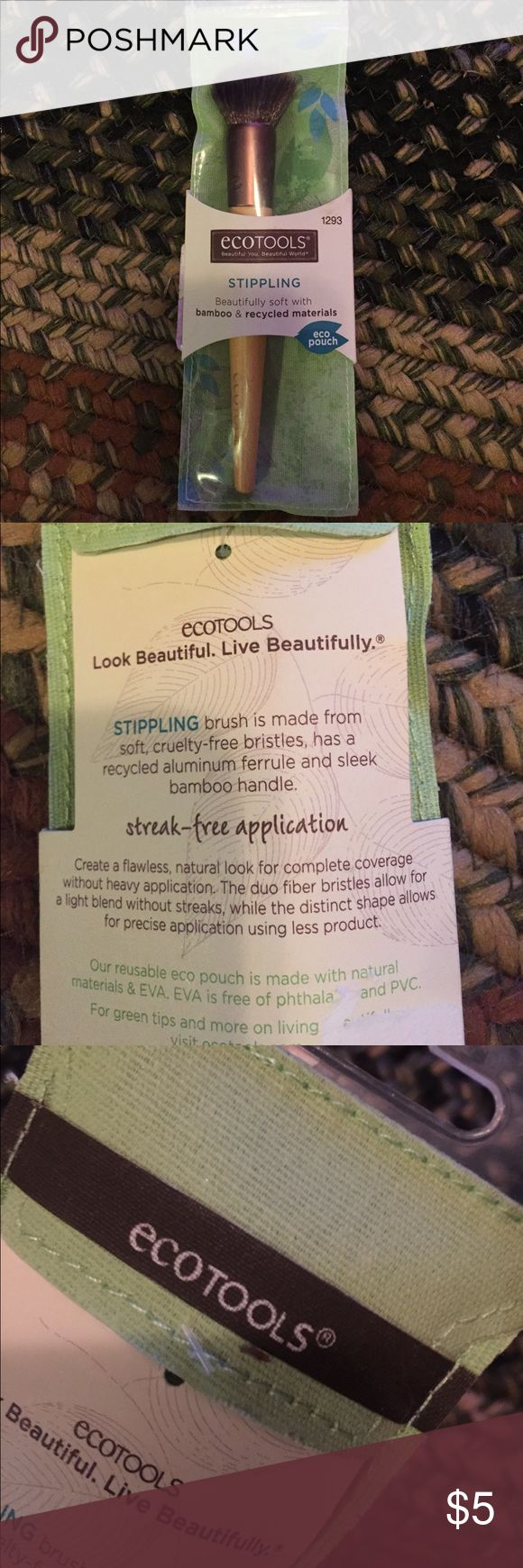 NTW stippling brush! Never been opened stippling brush!! ecotools Makeup Brushes & Tools