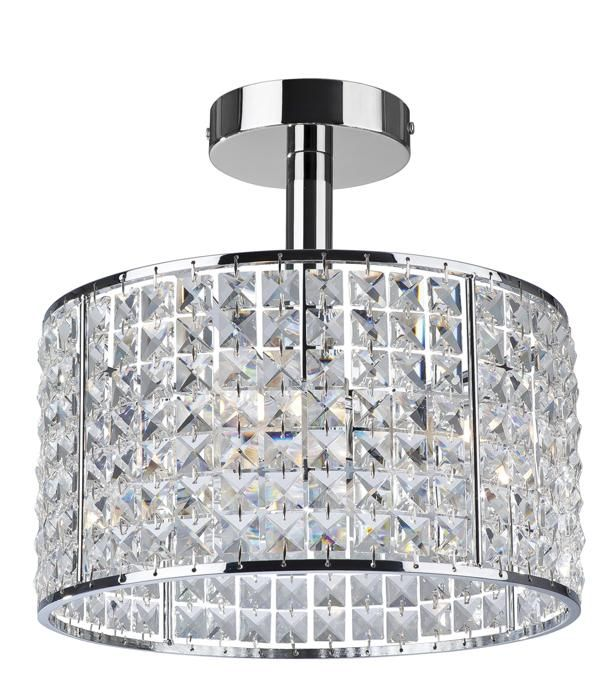 firstlight pearl 4 light crystal bathroom ceiling light is a stylish design bathroom ceiling light in a polished chrome finish with crystal shade