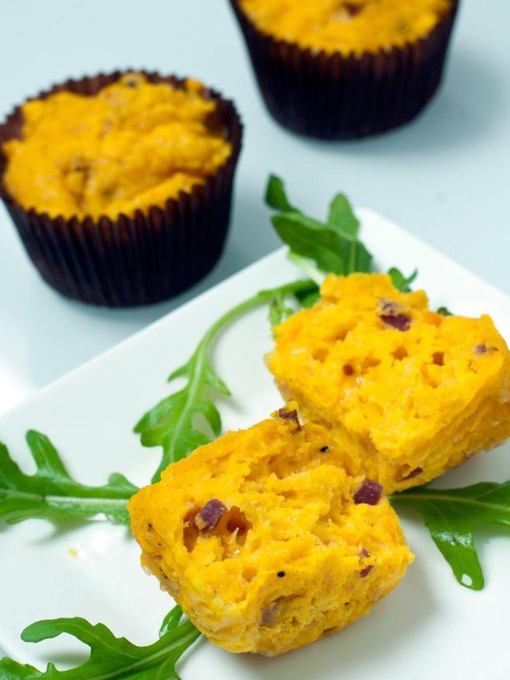 SHELIKES - Herzhafte Kürbismuffins mit Käse & Speck