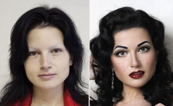 przed i po makijaż