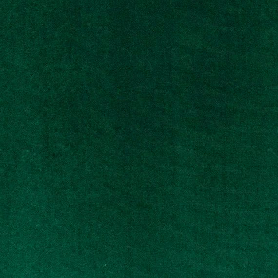 Emerald Green Velvet Solid Color Upholstery By