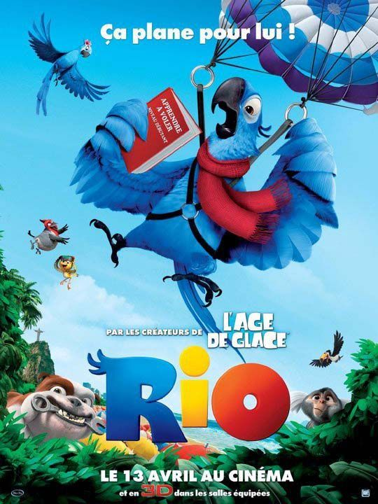RIO film d'animation affiche France