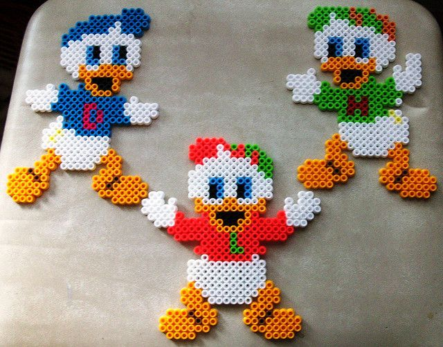 Donald Duck Disney - hama perler beads