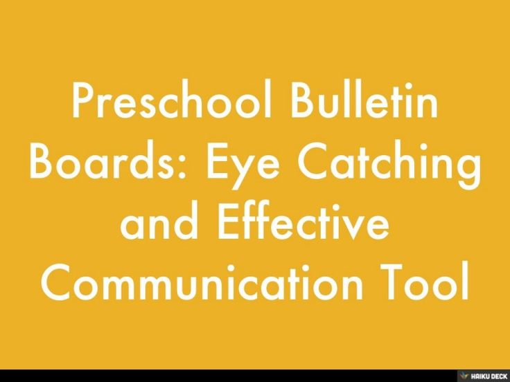 Preschool bulletin boards are a great way to communicate with parents about what is happening in the preschool and the community. Read the full details here: www.tictacteach.com