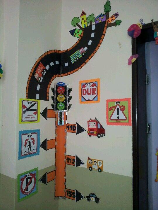 Okul öncesi trafik ve acil durum numaraları pano