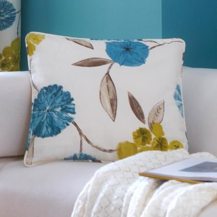 Contrast cushions to add accents of teal and lime