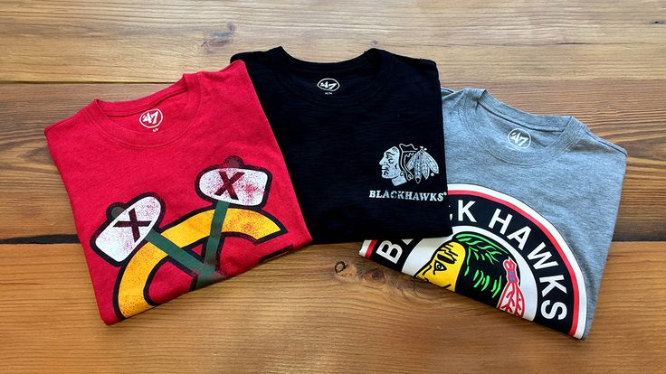 Check out these 47 Brand Tees ($35-$40) that recently arrived at the Blackhawks Store!