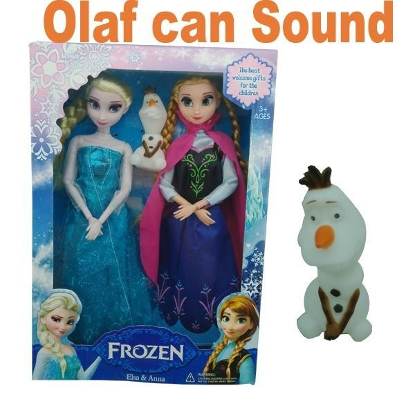 3 pcs Disney Frozen Queen Elsa and Princess Anna Snownan Olaf Toy 12'' Doll gift | For Eva