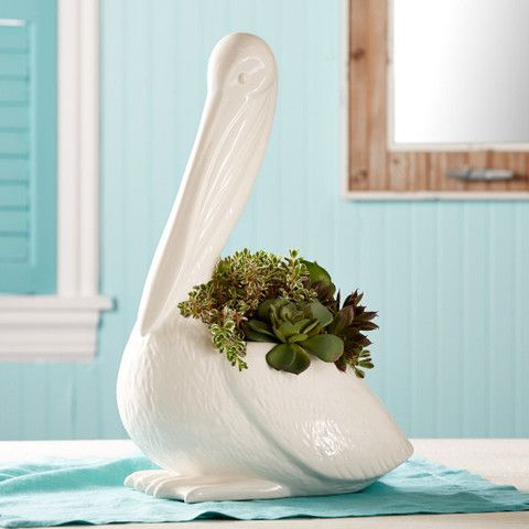 OC Local Fare - Ceramic Pelican Planter