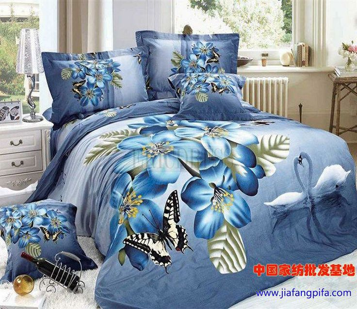 The Dancing Swan And Butterfly 3d Bedding Sets 3d Bedding