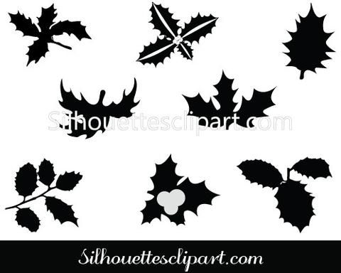 Leaves Silhouette Clip Art Pack