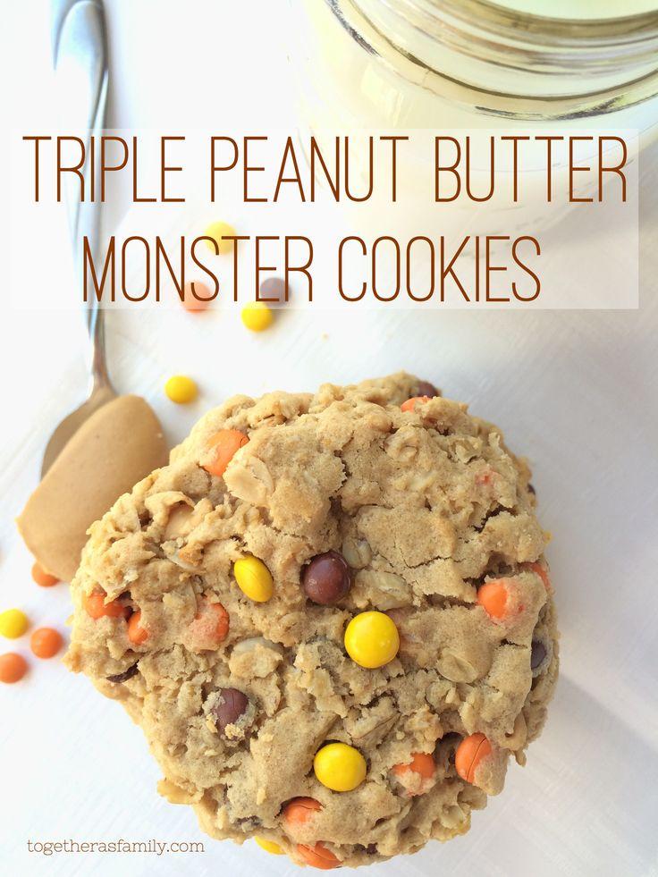 Triple Peanut Butter Monster Cookies | Recipe | Peanut ...