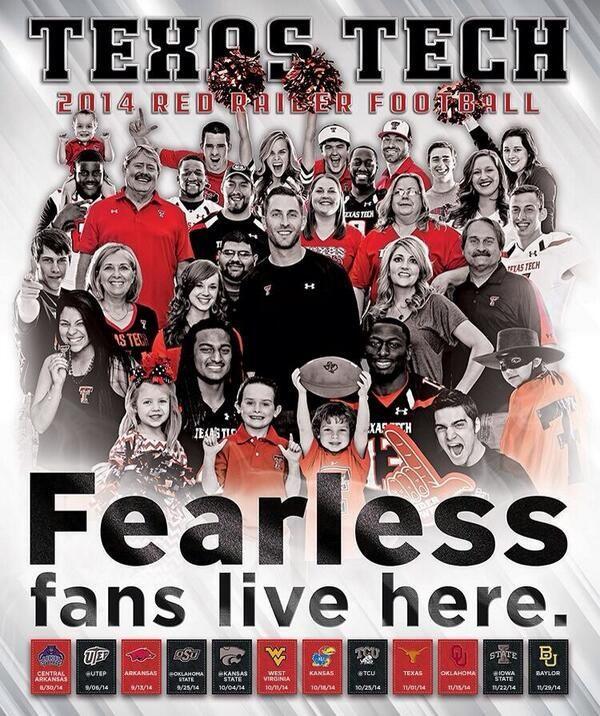Texas Tech Football Poster