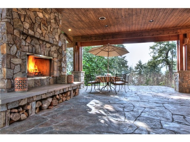 Covered Patio With Fireplace For The Home Pinterest