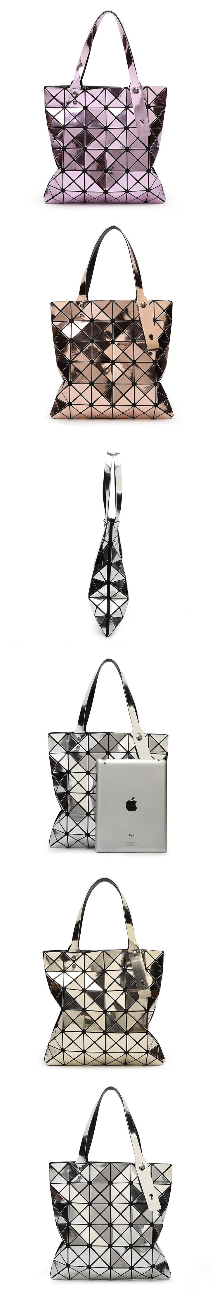 Famous brands Bao Bao style Designer women bag Diamond Lattice Tote geometry Specular reflections handbags Top-Handle Bags