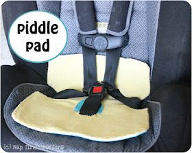 "DIY Piddle Pad for a car seat - ""With a recently potty trained toddler and lots of road trips this summer I decided to take some precautions"