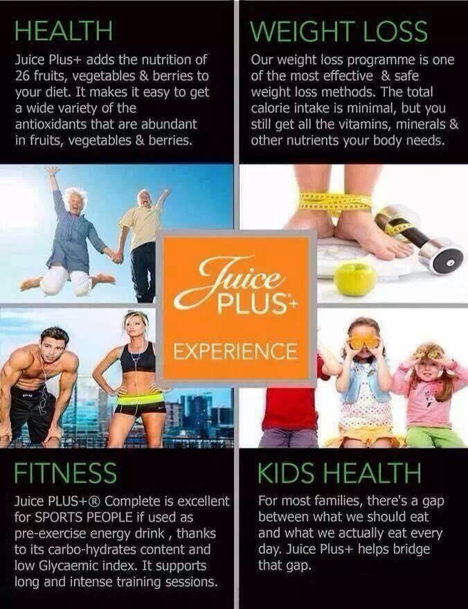 Health, Weight Loss, Fitness, Kids Health...We got it all! Juice Plus. Live your life to the juice plus