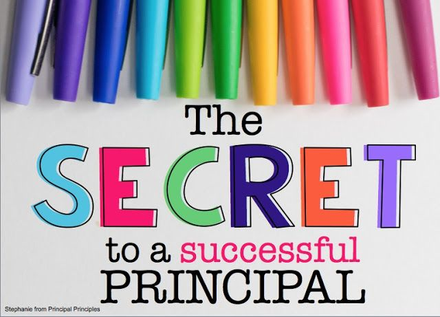 Principal Principles- The secret to a successful principal.