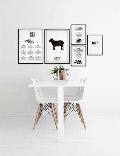 Laat u inspireren door mooie inrichting van de keuken. Hier kunt i mooie combinaties vinden van collages en fotowanden. www.desenio.nl