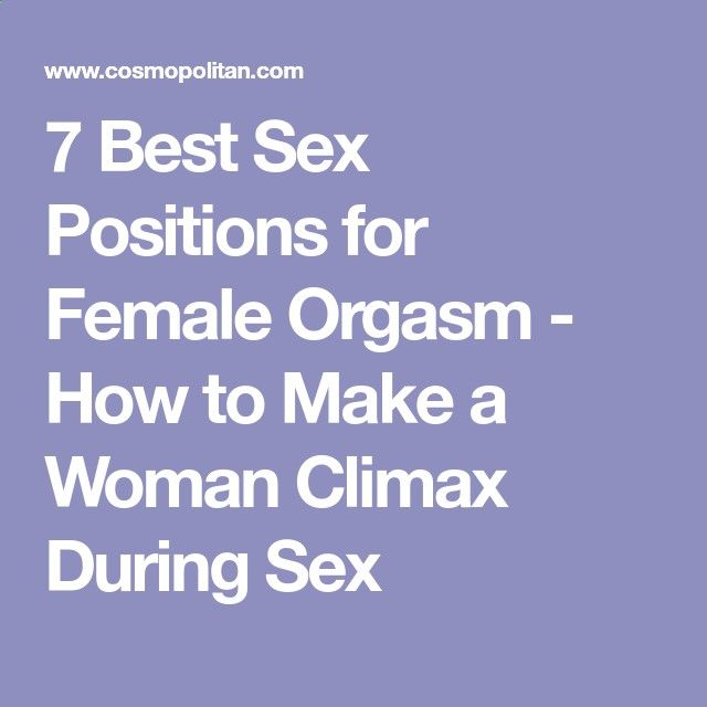 For council Best position for female orgasm you thanks
