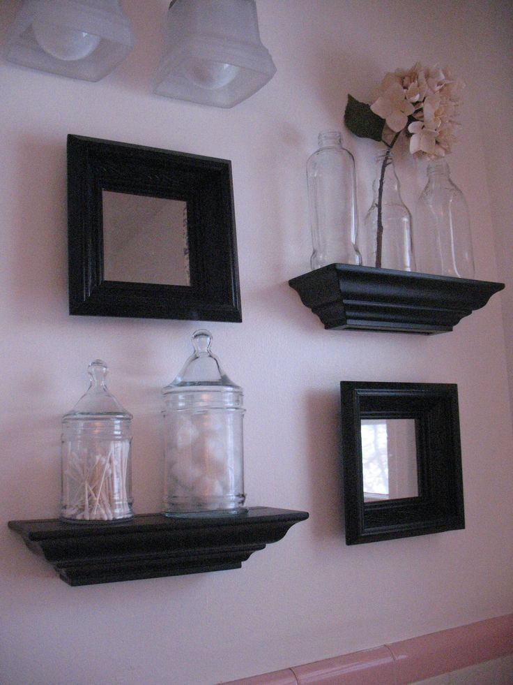 black and pink bathrooms | Upstairs bathroom= Pink and Black Beauty | The Robinson's Home Sweet ...