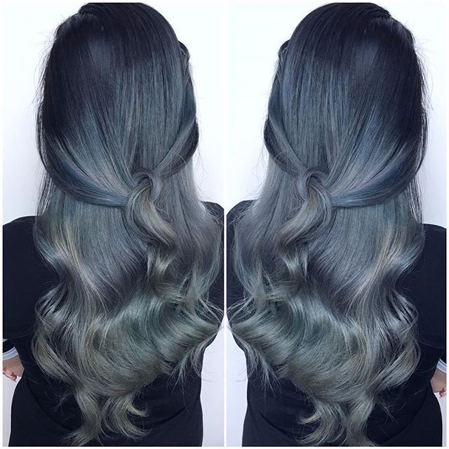 GARGOYLE: stone grey hair color, available now! @elissawolfe used Gargoyle with a dash of Blue Smoke at the root to create this perfection! Get yers here!! http://www.dollskill.com/lime-crime-gargoyle-unicorn-hair-dye.html