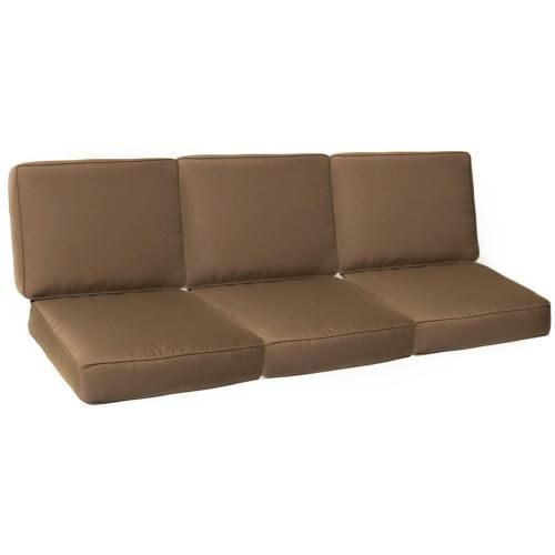Chaise Lounge Sofa Small Replacement Sofa Cushion Set With Piping Canvas Cocoa