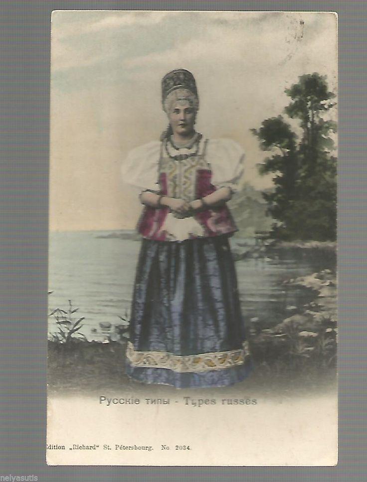 Postcard Russian Types Russian Beauty | eBay