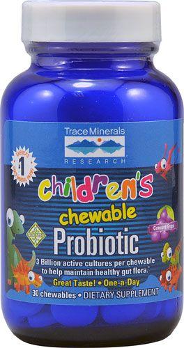 Trace Minerals Research Children's Chewable Probiotic Concord Grape
