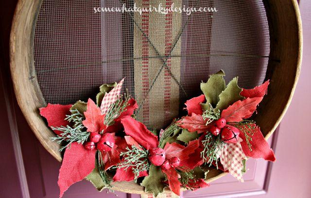 Somewhat Quirky: Grain Sieve Wreath