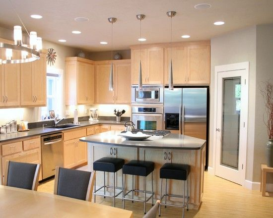 gray walls  For the Home  Pinterest  Maple Cabinets, Gray Walls and