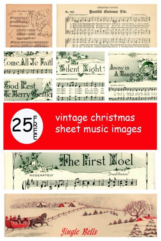 25+ Free Printable Vintage Christmas Sheet Music; Day 10