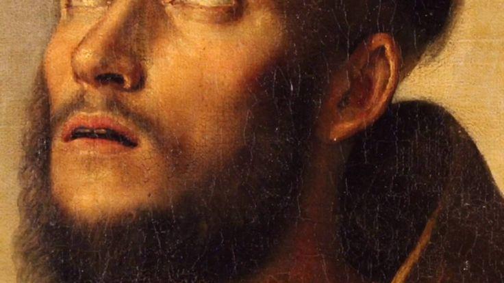 """Italian painting """"Ecstasy of St. Francis"""" of the 19th century #antiques #antiquariato #antique #painting #antiquario #dipinto #antico #quadro #religioso"""